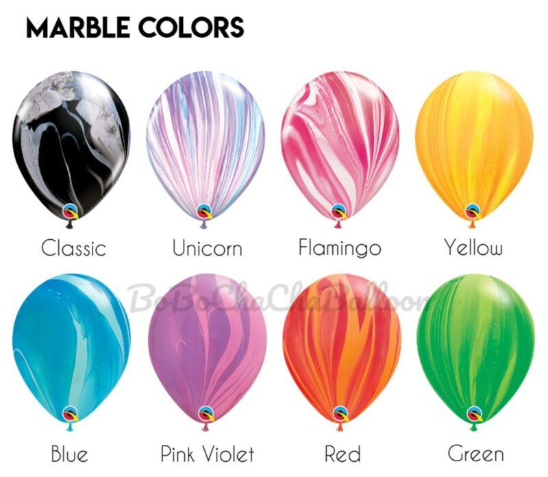 Chrome & Confetti Balloon Bouquet – 7 Balloons