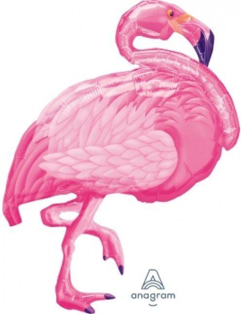 [Flamingo] 35inch Flamingo Beach Foil Balloon