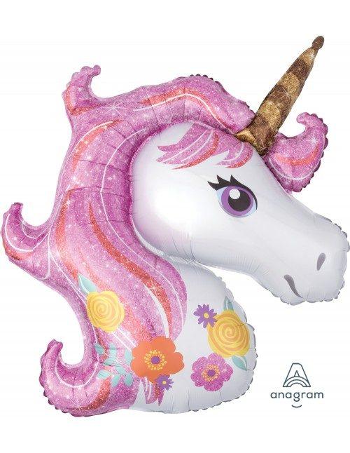 [Unicorn] 33inch Magical Purple Unicorn Foil Balloon