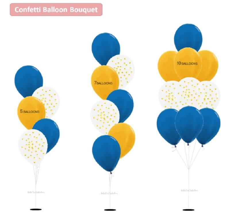 [Choose No. of Balloons] in a bouquet - Standard Metallic Color Balloons