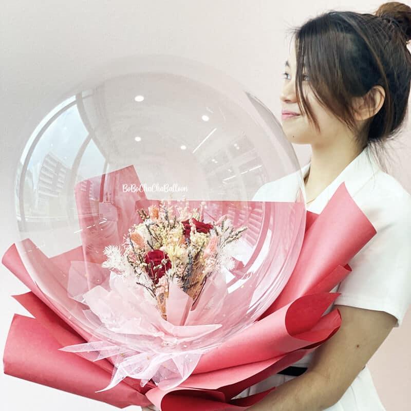 Flower Rose Balloon Bouquet